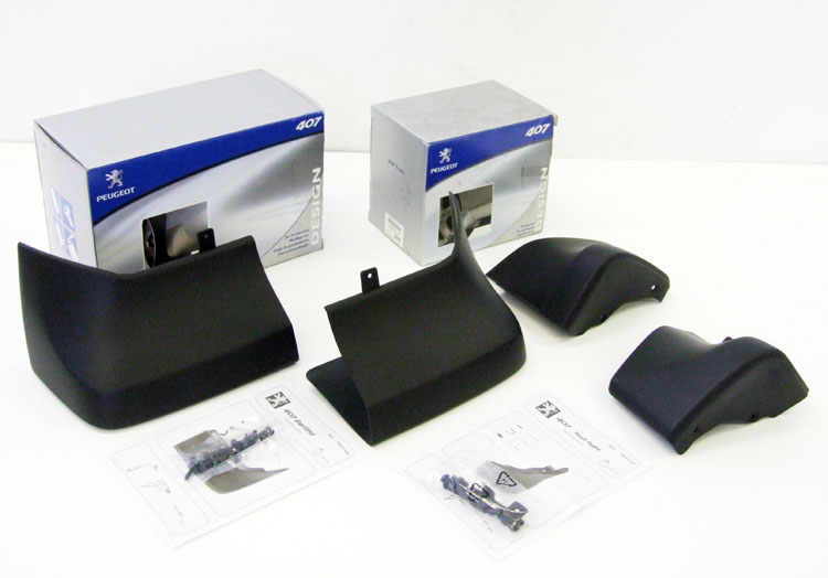 PEUGEOT 407 MUD FLAPS [Restyled Saloon version] 1.6 2.0 2.2 V6 HDI GENUINE PARTS