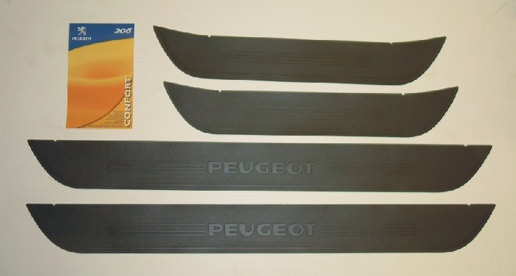PEUGEOT 206 PVC SILL GUARDS [5 door hatchback & SW ] GTI HDI XSI GENUINE PEUGEOT
