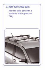 PEUGEOT 4007 ROOF RAIL CROSS BARS [Fits all 4007 models] 2.2 HDI GENUINE PEUGEOT