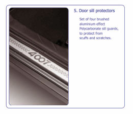 PEUGEOT 4007 SILL GUARDS PROTECTORS [Fits all 4007 models] 2.2 HDI GENUINE PARTS Thumbnail 1