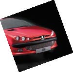 PEUGEOT 206 GRILLE for NON SPORTS BUMPERS [Fits all 206 models] GTI HDI XSI Thumbnail 1
