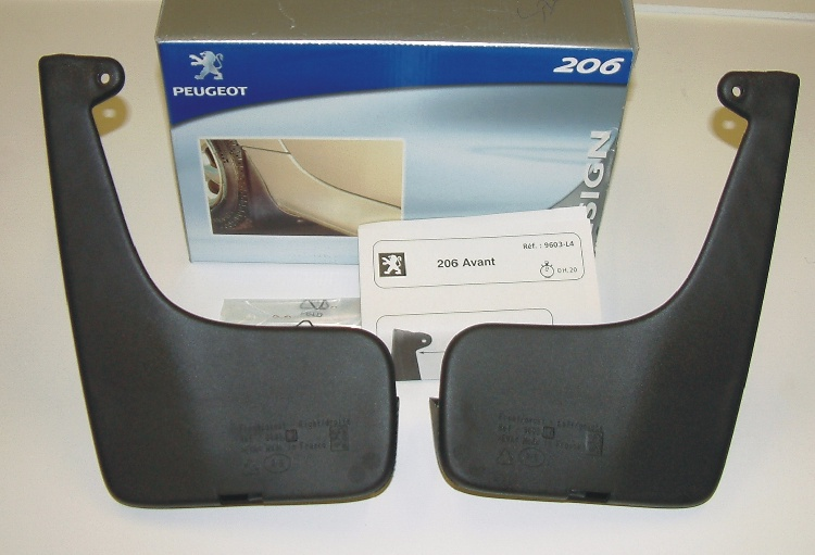 PEUGEOT 206 STYLED MUD FLAP SET [SW] SPORTS WAGON GENUINE PEUGEOT ACCESSORY ITEM