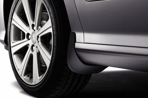 PEUGEOT 308 STYLED MUD FLAPS UNPAINTED [Fits all 308 models] 1.4 1.6 TURBO HDI Thumbnail 1