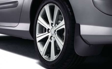 PEUGEOT 308 STYLED MUD FLAPS UNPAINTED [CC] COUPE-CABRIOLET GENUINE PEUGEOT