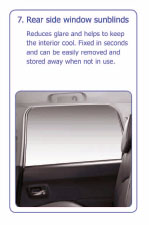 PEUGEOT 4007 REAR SIDE WINDOW SUN BLINDS [Fits all 4007 models] 2.2 HDI NEW! Thumbnail 1