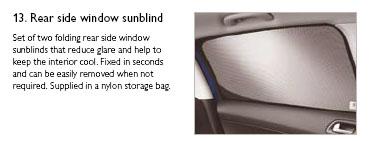 PEUGEOT 308 WINDOW SUN BLINDS [5 door hatchback] 1.6 2.0 PETROL & DIESEL NEW!