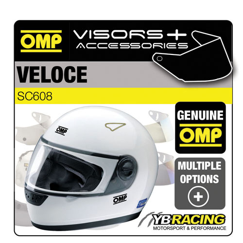 SC608 OMP VELOCE HELMET OPTIONAL EXTRA VISORS & ACCESSORIES MADE BY OMP