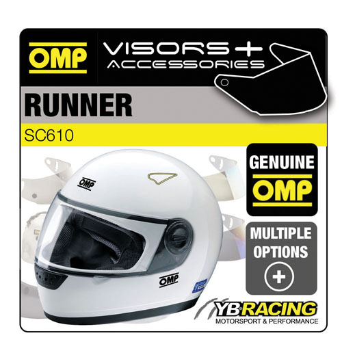 SC610 OMP RUNNER HELMET VISORS SMOKED or BLACK - REPLACEMENT OR UPGRADE VISOR