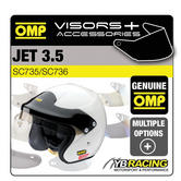 OMP JET 3.5 RALLY HELMET OPTIONAL EXTRA VISORS & ACCESSORIES MADE BY OMP