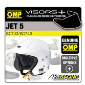 OMP JET 5 HELMET OPTIONAL EXTRA VISORS & ACCESSORIES MADE BY OMP