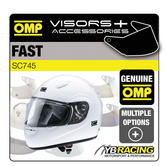 SC745 OMP FAST HELMET OPTIONAL EXTRA VISORS CLEAR / SMOKED / PIVOT BOLTS / OMP