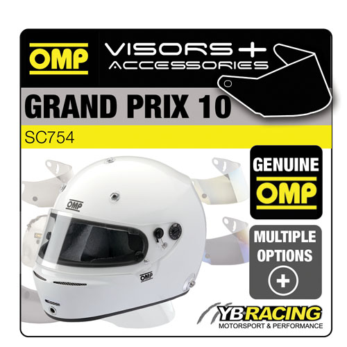 OMP GP GRAND PRIX 10 RACE HELMET OPTIONAL VISORS & ACCESSORIES BY OMP