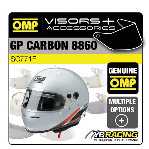 SC771F OMP GP GRAND PRIX CARBON 8860 HELMET OPTIONAL EXTRA VISORS & ACCESSORIES