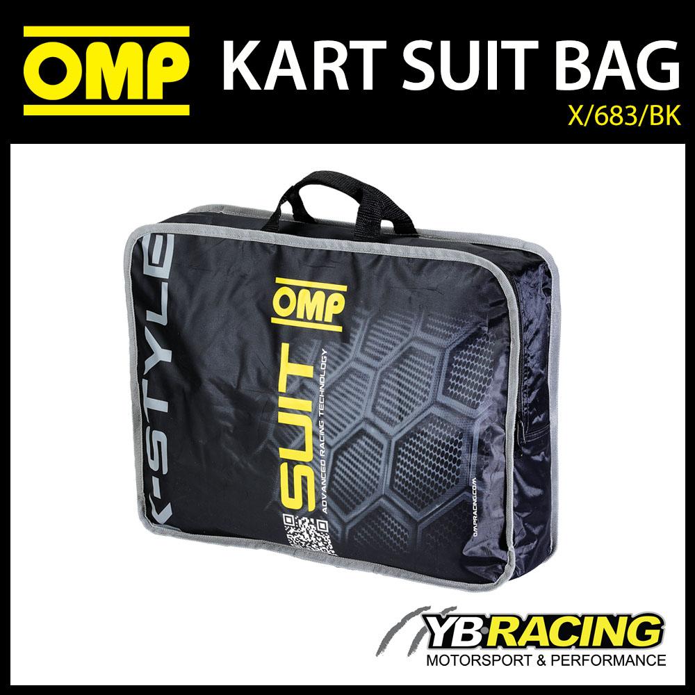NEW! X/683/BK OMP KARTING K-STYLE KART SUIT CARRY BAG IN BLACK - GENUINE OMP BAG
