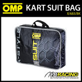 NEW! X/683/BK OMP KARTING K-STYLE KART SUIT CARRY BAG IN BLACK - GENUINE OMP BAG