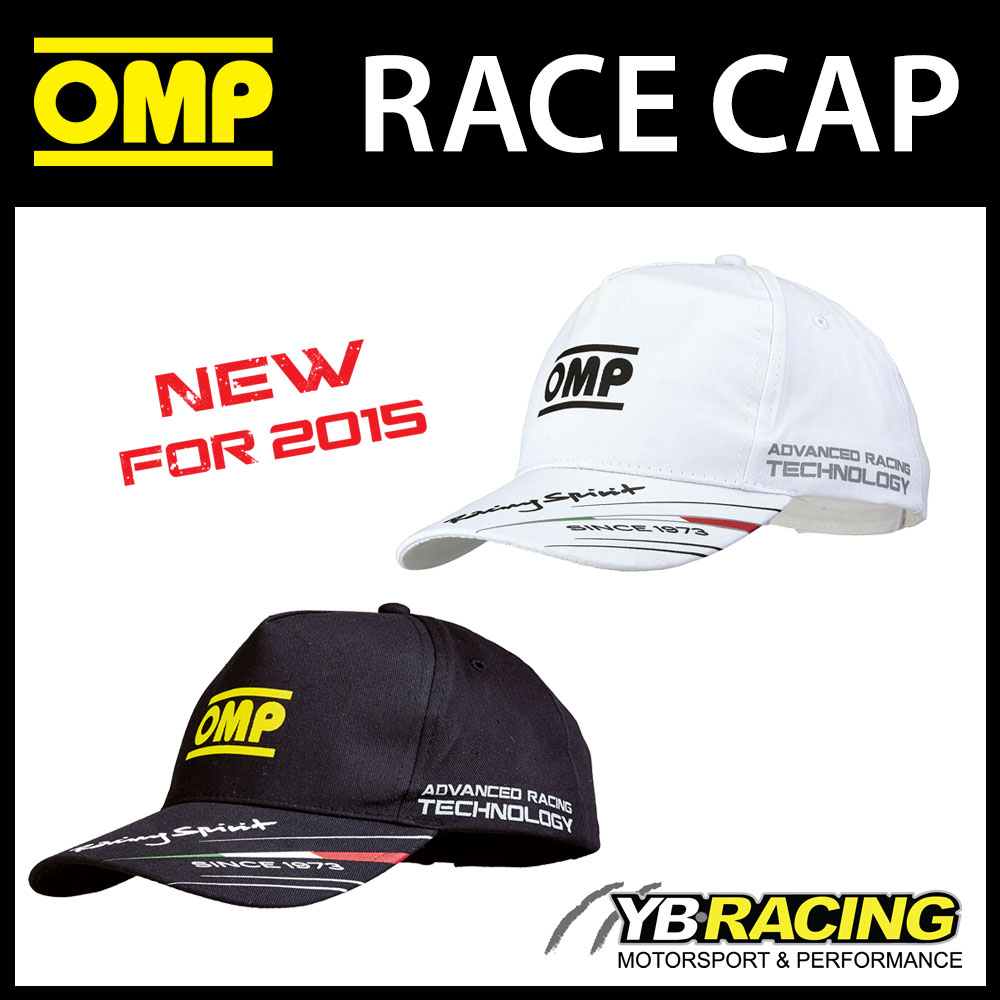 NEW! PR918 OMP RACING SPIRIT CAP LIGHTWEIGHT COTTON BLACK or WHITE ADULT & CHILD