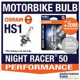 New! Osram HS1 Night Racer 50 Motorbike Headlight Bulb +50% Brighter! 1 x HS1