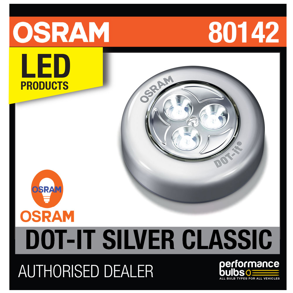 new osram silver dot it classic led stick on light torch. Black Bedroom Furniture Sets. Home Design Ideas