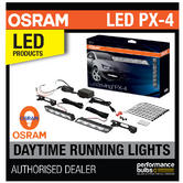 OSRAM LED DRL 401 PX-4 Retrofit Daytime Running Lights 12v 6000K E Road Legal