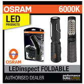 New! OSRAM LEDinspect 21+5 LED Foldable Inspection Lamp 6000K + 2 Year Guarantee