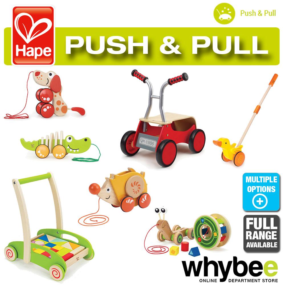 Push And Pull Toys : Hape push pull toy full range of wooden walk along