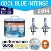 Limited Edition! Osram H4 Cool Blue Intense 64193CBL BILUX H4 x 2 +30% LIGHT!