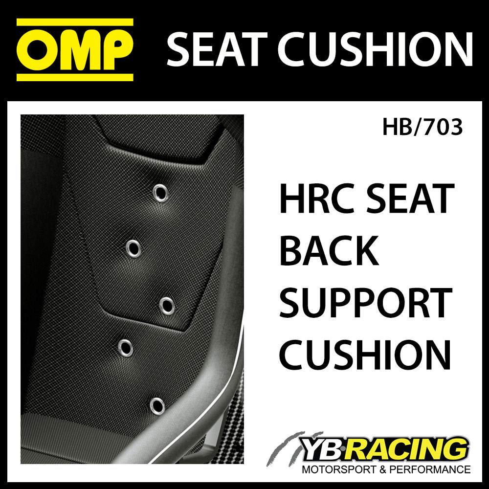 HB/703 OMP RACING HRC-R AIR HA/786/N PREFORATED BACK CUSHION BLACK AIR COOLING