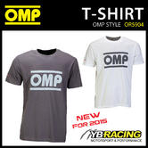 SALE! OR5904 OMP RACING SPIRIT T-SHIRT COTTON FABRIC in GREY or WHITE ALL SIZES