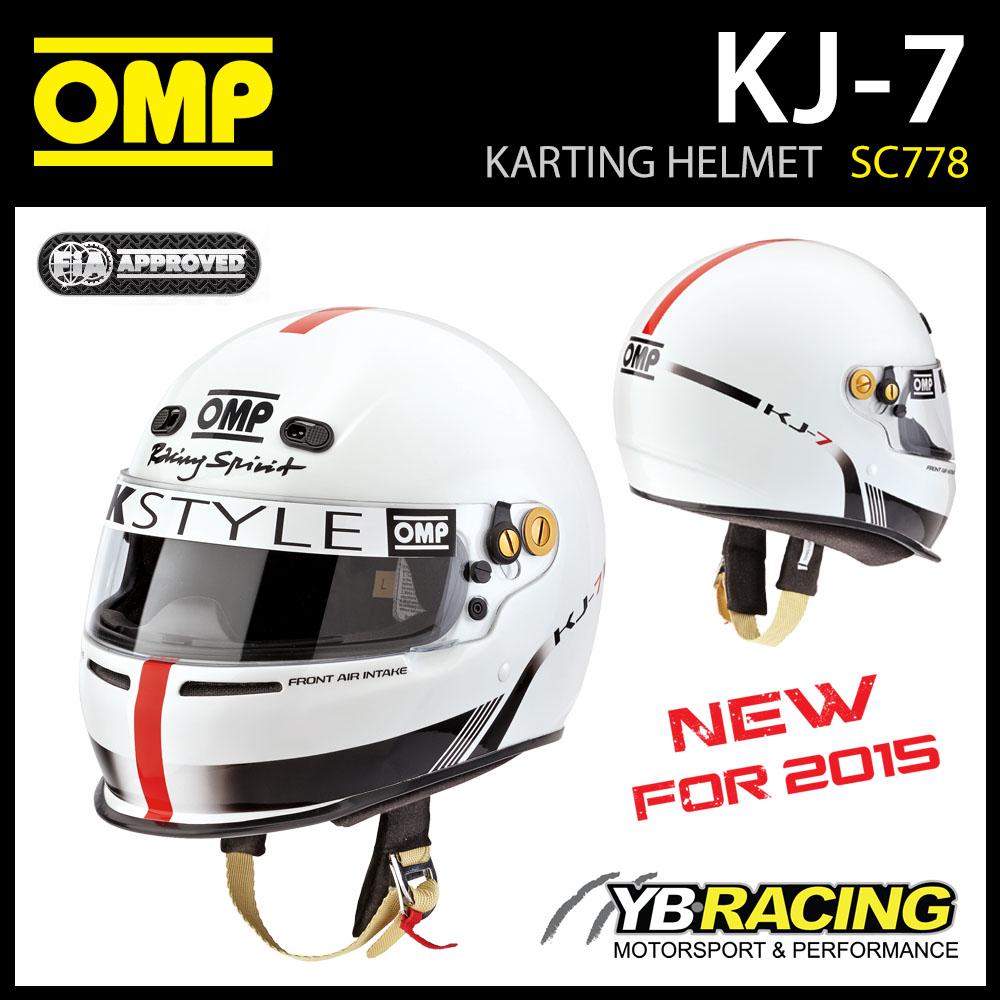 NEW! SC778 OMP KJ-7 KJ7 KART FULL FACE HELMET KARTING 'SNELL FIA CMR 2007' RATED