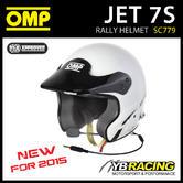 NEW! SC779 OMP JET 7S INTERCOM RALLY OPEN FACE HELMET HANS / FIA / SNELL SA 2010
