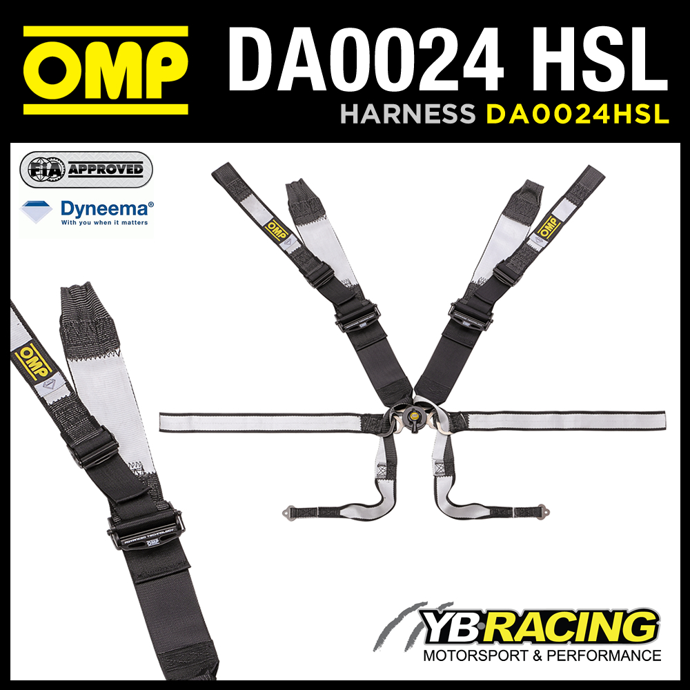 NEW! DA0024 HSL OMP RACING FHR HARNESS DYNEEMA 8-POINT for FORMULA RACING CARS