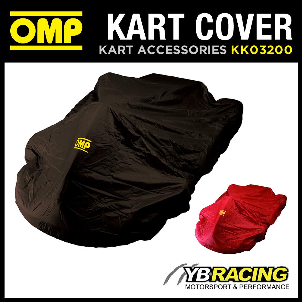 SALE! KK03200 OMP NYLON KART COVER WATERPROOF & TEAR RESISTANT BLACK or RED