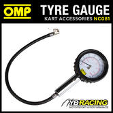 NC081 OMP KARTING ANALOGUE TYRE PRESSURE GAUGE FOR 1.0 CLASS KART TYRES