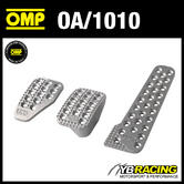 OA/1010 OMP RACING ALUMINIUM PEDAL SET - SANDBLASTED - FOR RACE RALLY CARS!