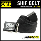 OR5883 OMP RACING OFFICINA SHIFT BELT BLACK - SUIT MECHANIC / PIT CREW / DRIVER