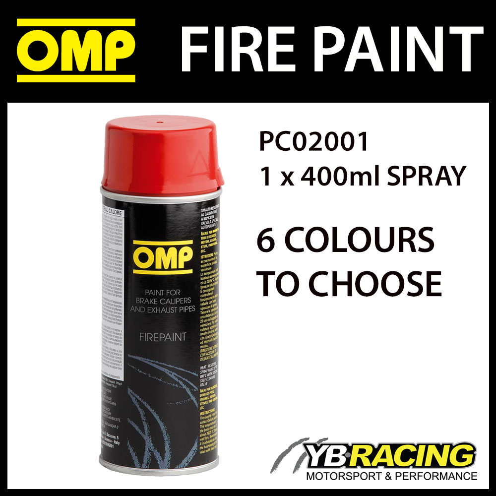 pc02001 omp fire paint high temperature spray for exhausts brakes. Black Bedroom Furniture Sets. Home Design Ideas