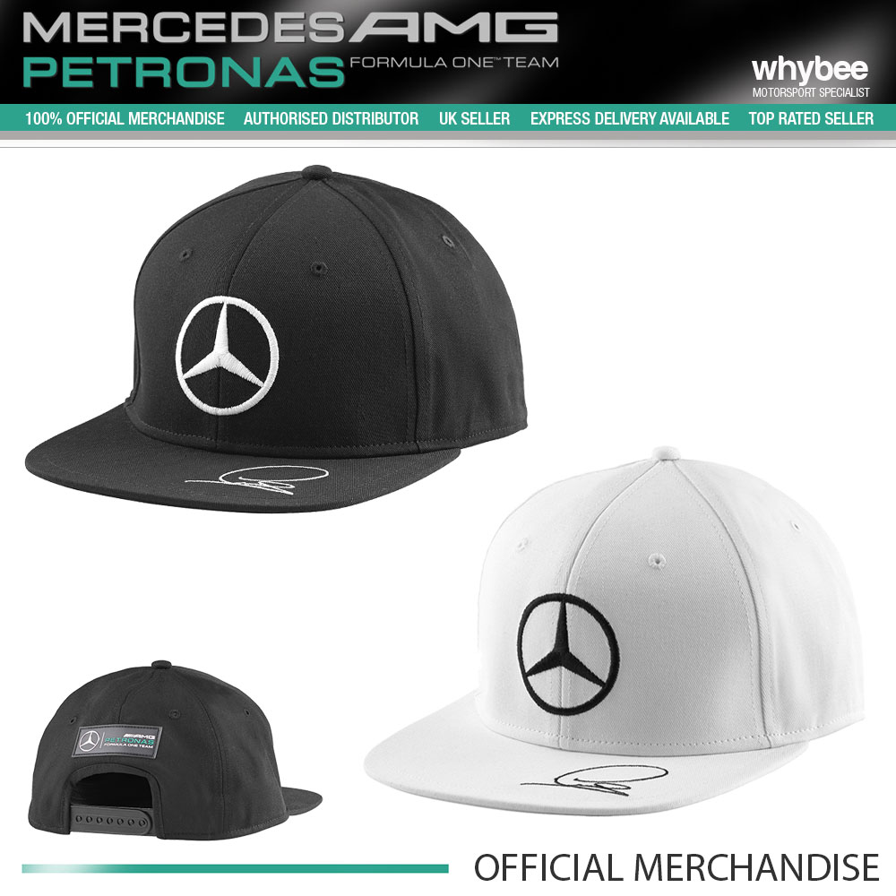 2015 mercedes amg lewis hamilton flat brim cap black or. Black Bedroom Furniture Sets. Home Design Ideas