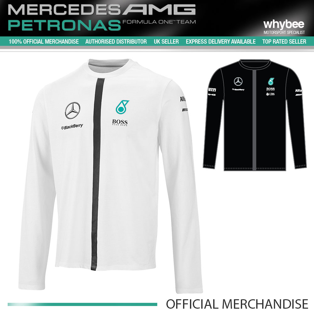 2015 hugo boss mercedes amg formula one f1 team mens long sleeve t shirt ebay. Black Bedroom Furniture Sets. Home Design Ideas