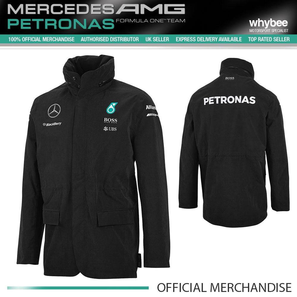 2015 mercedes amg formula one f1 team mens rain jacket. Black Bedroom Furniture Sets. Home Design Ideas