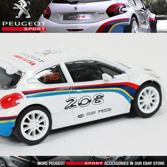 NEW! NOREV PEUGEOT SPORT 208 T16 RALLY CAR MINIATURE 3-INCH MODEL TOY CAR in BOX Thumbnail 1