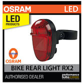 LED BL302 OSRAM LED Bike Rear Light RX2 (Red) Cycle Lamp - 2.4 Lux 2 Yr Guarante