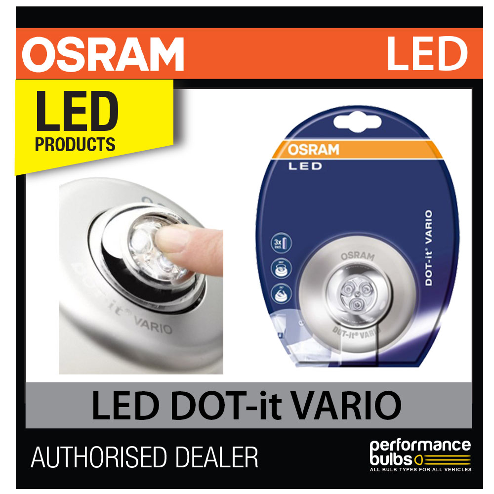 osram dot it vario led interior light lamp adjustable swivel head stick magnetic ebay. Black Bedroom Furniture Sets. Home Design Ideas