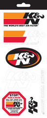 K&N AIR FILTER STICKER  DECAL SHEET 7 STICKERS inc 266x114mm  NEW GENUINE