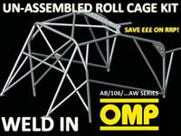 AB/106/182AW OMP WELD IN ROLL CAGE KIT PEUGEOT 106 ALL 3 DOOR XSI RALLYE GTI 91-