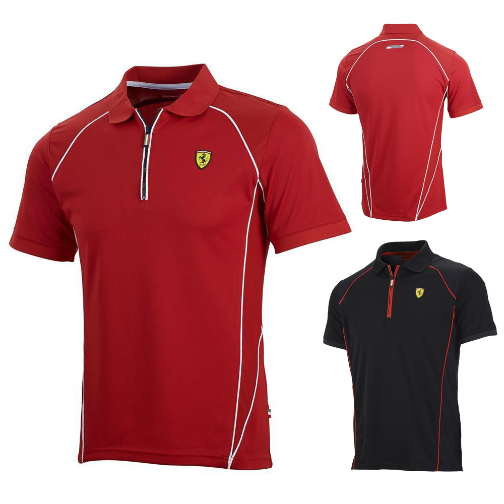sale scuderia ferrari f1 mens 39 performance 39 polo shirt in a sports style ebay. Black Bedroom Furniture Sets. Home Design Ideas