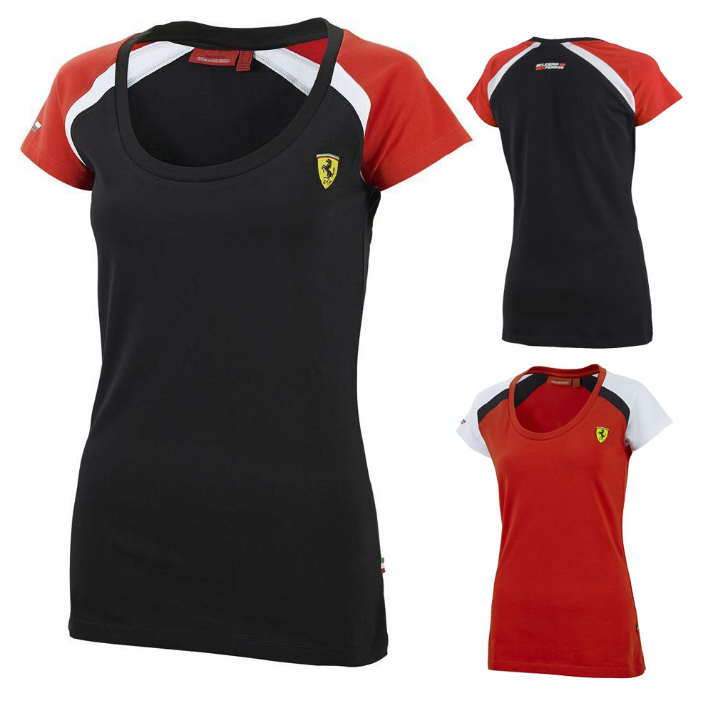 sale scuderia ferrari f1 womens race tee t shirt ladies female girls ebay. Black Bedroom Furniture Sets. Home Design Ideas