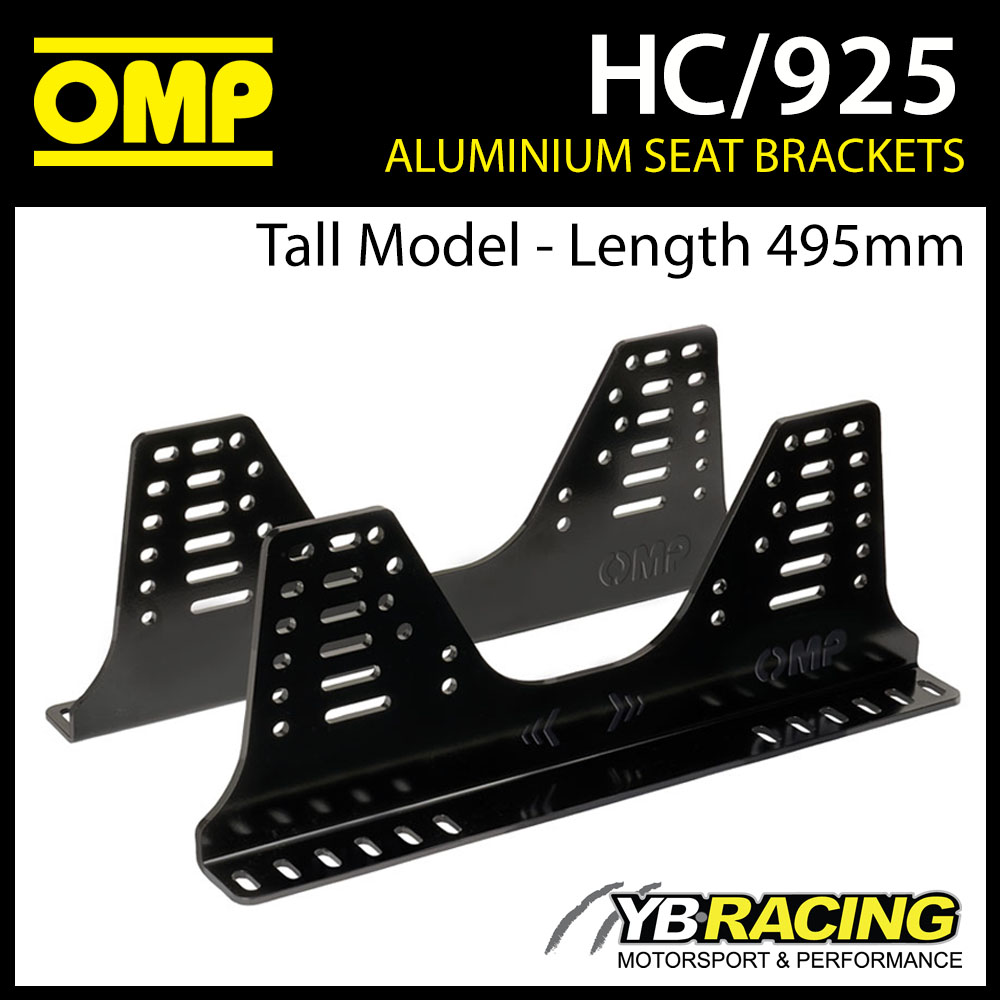 NEW! HC/925 OMP SEAT SIDE MOUNT BRACKETS (TALL MODEL) ULTRA STRONG 6mm ALUMINIUM