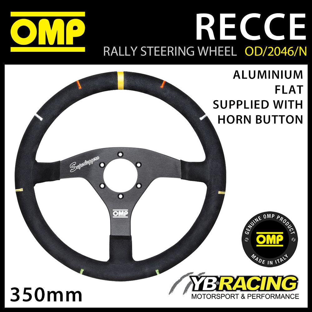 NEW! OD/2046/N OMP RECCE ALUMINIUM STEERING WHEEL SUPER PROFESSIONAL RALLY WRC