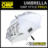PR923 OMP RACING UMBRELLA WHITE 1m DIAMETER - IDEAL FOR MOTORSPORT EVENTS!
