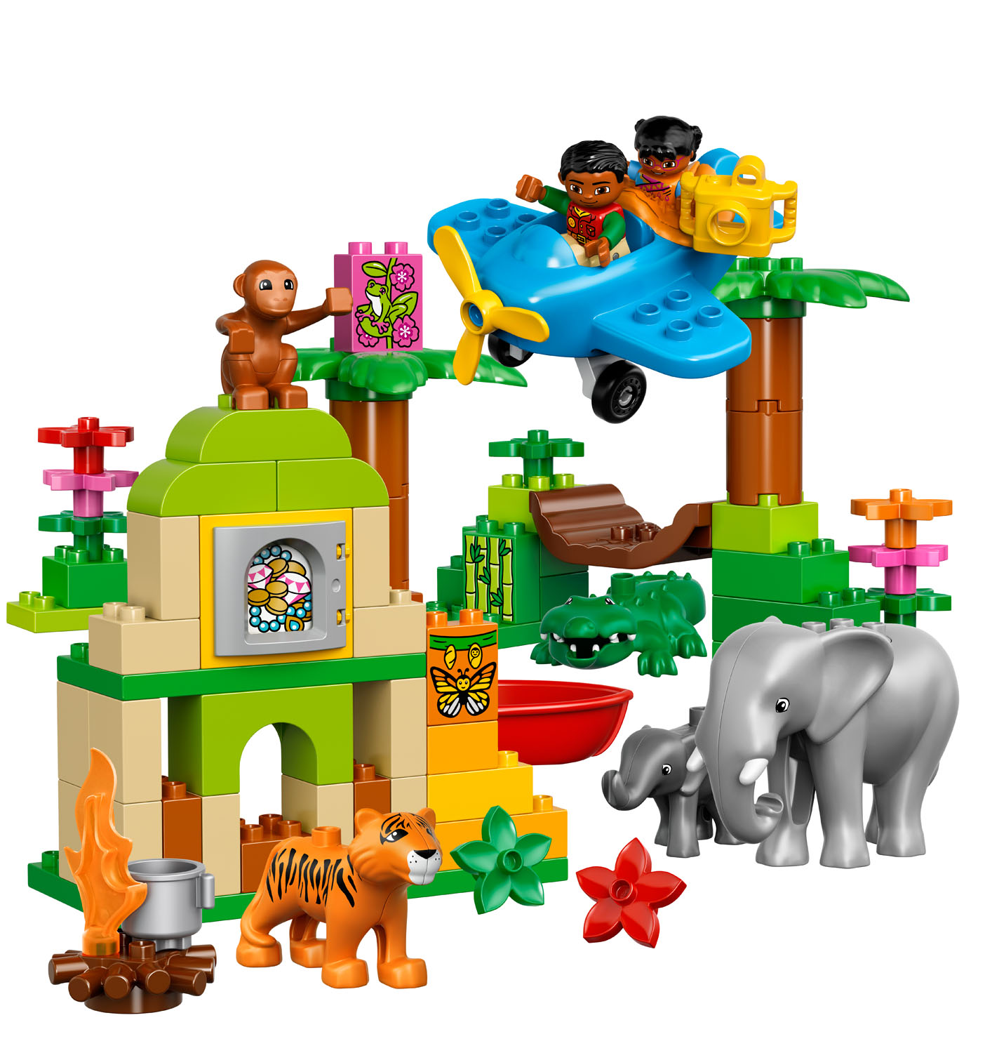 10804 lego jungle duplo town age 2 5 86 pieces new. Black Bedroom Furniture Sets. Home Design Ideas